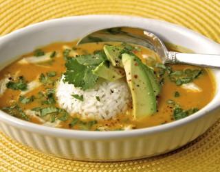 Ķirbju zupa ar jasmīnu rīsiem