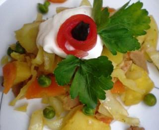 Veģetārais dārzeņu sautējums ar soju