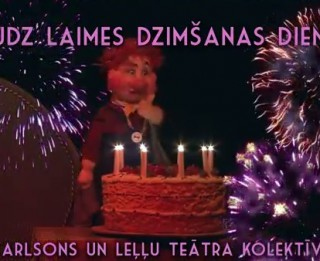 Video: Latvijas Leļļu teātra sveiciens Raimondam Paulam dzimšanas dienā