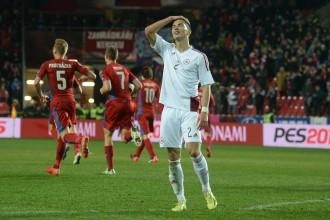 Latvijas izlase 90. minūtē izlaiž uzvaru pār Čehiju