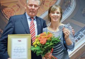 """Rīgas gada sportiste Skujiņa: """"Milzīgs prieks - jau trešo reizi esmu labākā"""""""