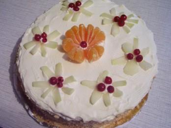 Ātri pagatavojama biskvīta torte