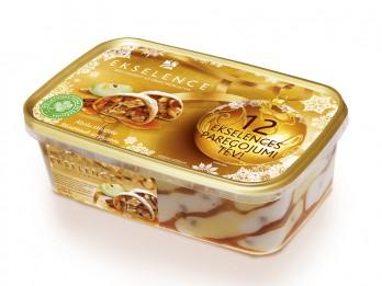 Ekselence ziemas saldējums ar ābolu strūdeles garšu