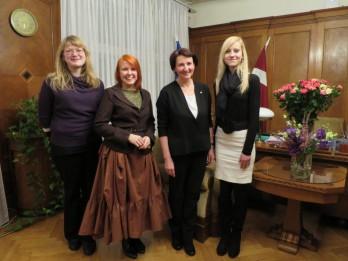 Latvijas Mākslas augstskolu asociācijas studentu pārstāvju un izglītības un zinātnes ministres tikšanās