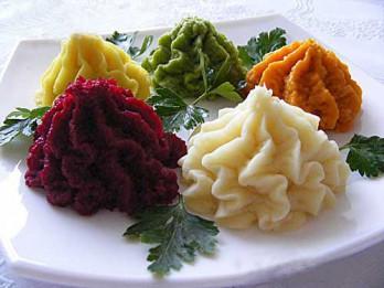 Tik dažādais kartupeļu biezenis. 6 krāsainas receptes