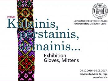Latvijas Nacionālajā vēstures muzejā atklās izstādi par cimdiem