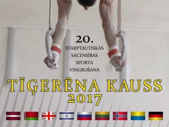 """Rīgā par """"Tīģerēna kausu"""" cīnīsies vingrotāji no deviņām valstīm"""