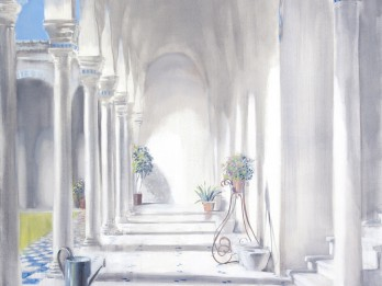 """Latgales vēstniecība GORS skatāma Ditas Lūses gleznu izstāde """"Gaismas laiks"""""""