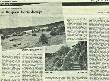 """31. oktobrī aicina uz sarunu ar Daini Īvānu un Aleksandru Mirlinu """"Par Daugavas likteni domājot"""""""