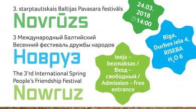 """Rīgā notiks Trešais starptautiskais Pavasara festivāls """"Novrūzs"""""""