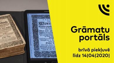 Digitalizēto grāmatu portāls – brīvā piekļuvē līdz 14. aprīlim