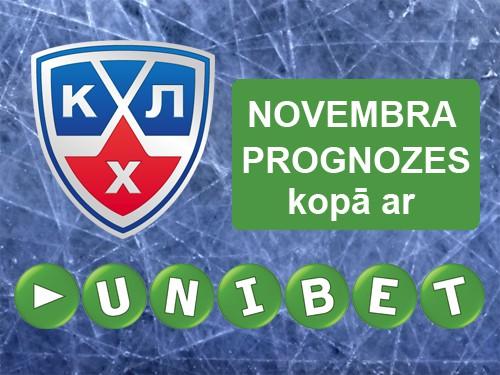 KHL prognožu čempions novembrī - <b>balkons</b>