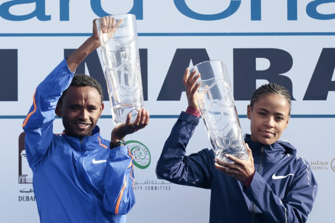 Dubaijas maratonā jau septīto gadu pēc kārtas triumfē Etiopijas skrējēji