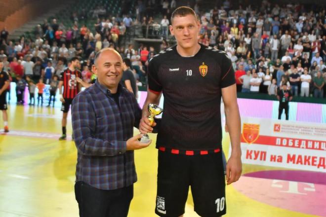 Krištopāns - Maķedonijas kausa izcīņas vērtīgākais spēlētājs