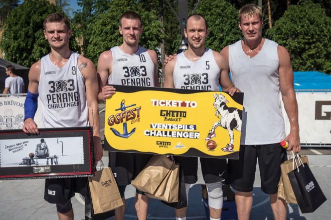 """Pirmo ceļazīmi uz Ventspils 3x3 basketbola """"Challenger"""" izcīna Krievijas """"Piter"""""""