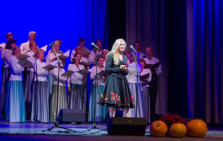 Ance Krauze un Andris Ērglis dziesmu cikla LINS pirmatskaņojumā Liepājā
