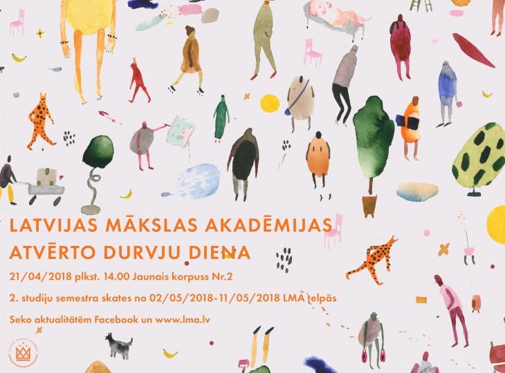 21. aprīlī uzsāksies Mākslas akadēmijas Atvērto durvju dienu cikls