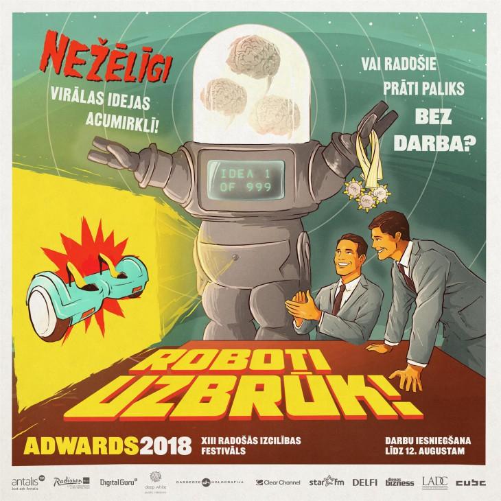 """Gaidītākais radošās izcilības festivāls """"Adwards 2018"""" izsludina darbu iesniegšanu"""