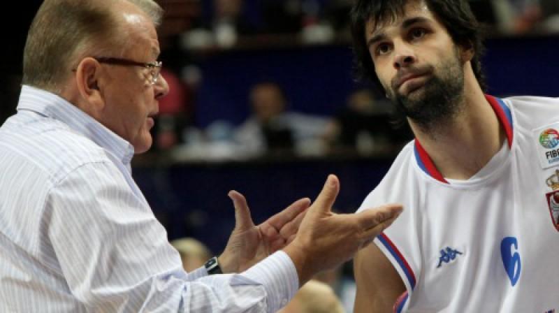 Dušans Ivkovičs un Milošs Teodosičs Foto: AP/Scanpix