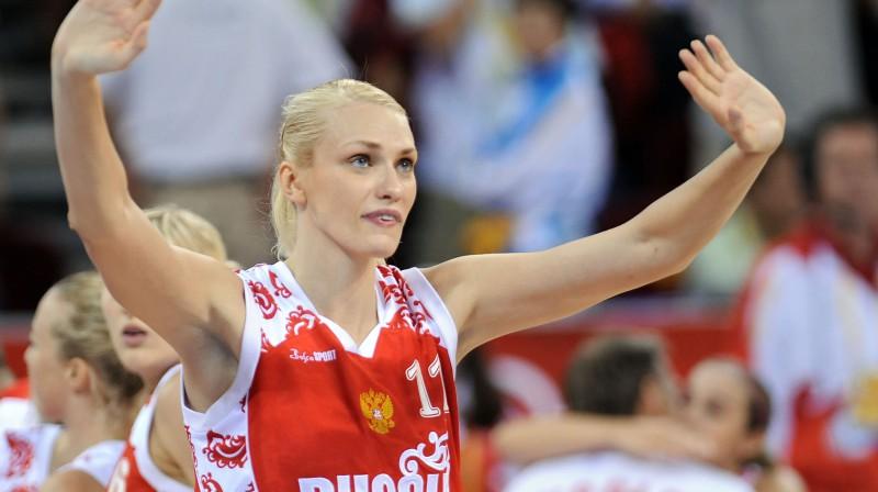 Krievijas izlases spožākā zvaigzne - Marija Stepanova Foto: AFP/Scanpix