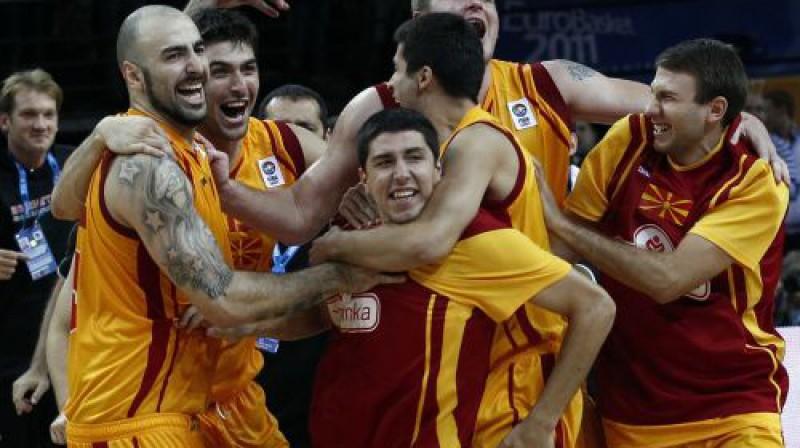 Maķedonijas prieks Foto: Reuters/Scanpix