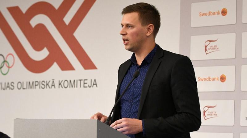 Latvijas Peldēšanas federācijas prezidents Aivars Platonovs Foto: Romāns Kokšarovs/f64