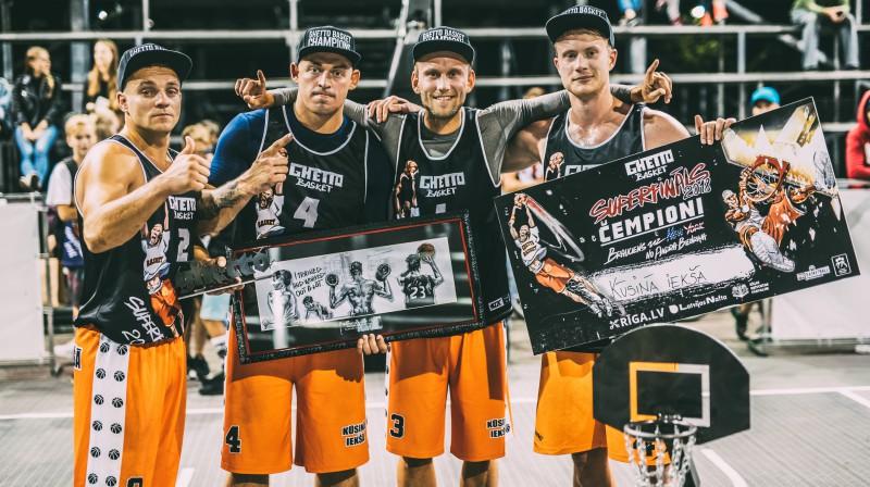 """""""Ghetto Basket"""" čempioni Amatieru grupā - """"Kūsiņā iekšā"""" Publicitātes foto"""