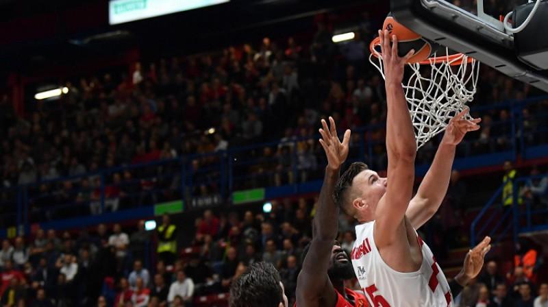 Dairis Bertāns: 13 punkti zaudējumā pret CSKA. Foto: EP/Scanpix