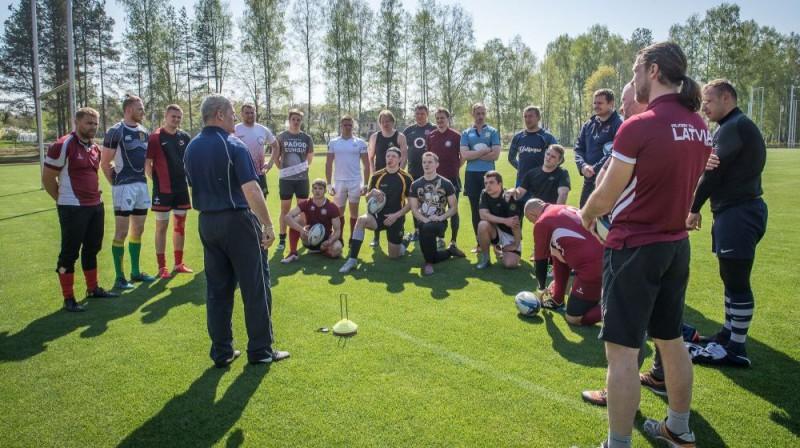 Latvijas regbija izlases treniņš Baldonē. Foto: Zigismunds Zālmanis (LRF)