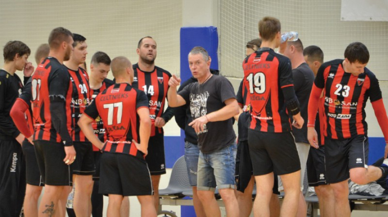 """Celtnieks Rīga"". Foto: handball.lv"