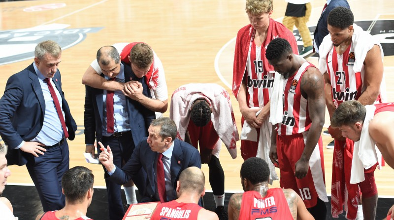 "Deivids Blats pie ""Olympiacos"" stūres. Foto: imago images/PanoramiC/Scanpix"