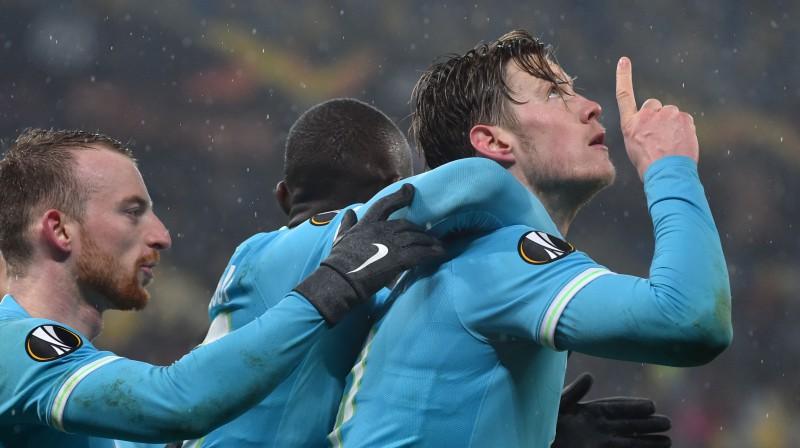 Vauts Vēghorsts svin uzvaras vārtus. Foto: AFP/Scanpix