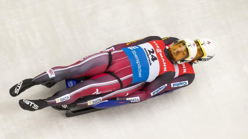 Vai arī dāmu konkurencē Latvijai būs tik labs divnieks kā Andris un Juris Šici starp kungiem? Foto: imago images/Kosecki/Scanpix