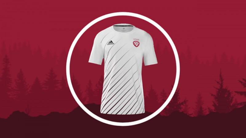 Latvijas futbola izlases izbraukuma spēļu forma. Foto: LFF