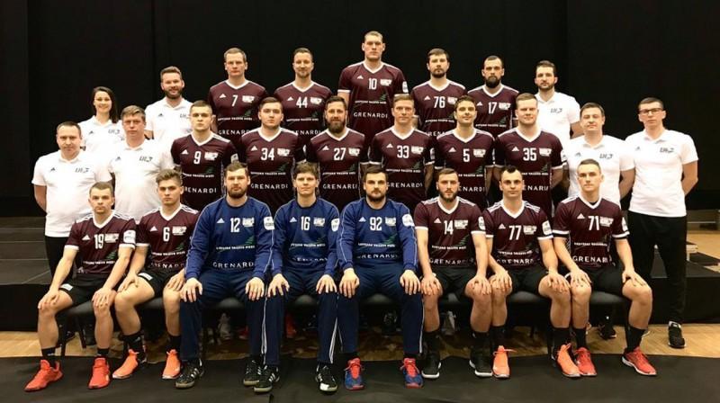 Latvijas handbola izlase 2020. gada Eiropas čempionātā. Foto: LHF