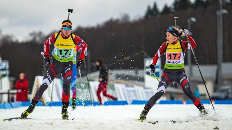 Latvijas biatlona līderi Andrejs Rastorgujevs un Baiba Bendika. Foto no Latvijas Biatlona federācijas Facebook profila