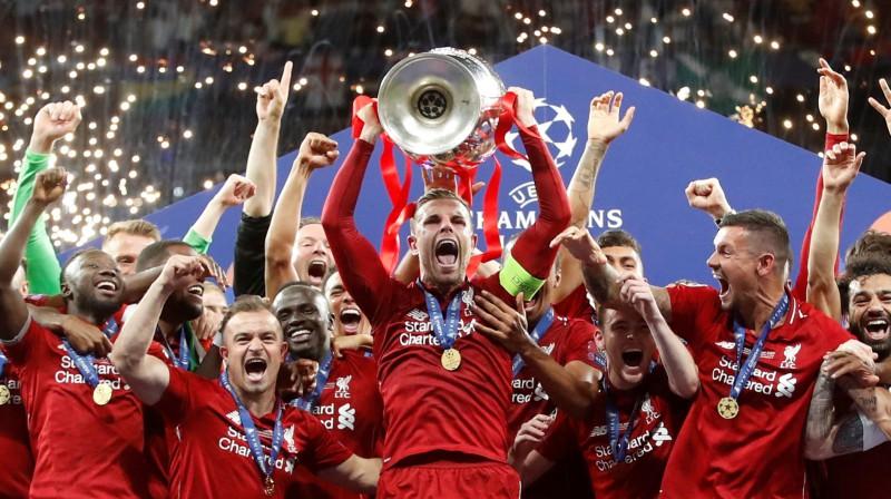 """UEFA Čempionu līgas uzvarētāja """"Liverpool"""". Foto: Reuters/Scanpix"""