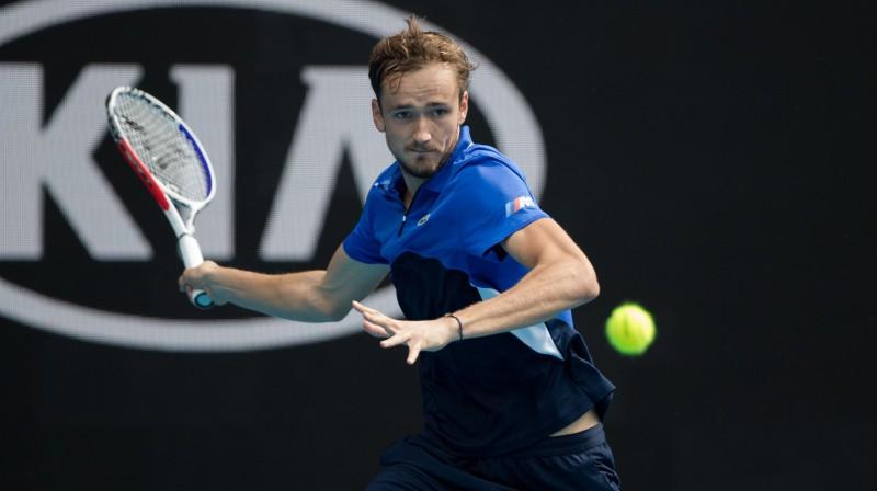 Pagājušā gada finālists Daniils Medvedevs (ATP 5.) būtu bijis rangā augstāk esošais spēlētājs Vašingtonā. Foto: SIPA/Scanpix