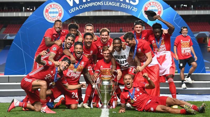 """Minhenes """"Bayern"""" - 2020. gada Čempionu līgas uzvarētāji. Foto: SIPA / Scanpix"""