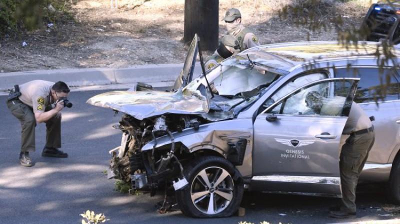Taigera Vudsa vadītā automašīna. Foto: Zumapress.com/Scanpix