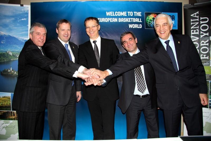 Slovēnija rīkos EuroBasket 2013, dāmas sacentīsies Francijā