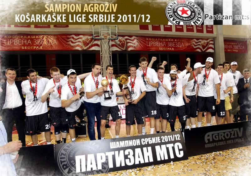 """Dāvis Bertāns un """"Partizan"""" triumfē Serbijas čempionātā"""