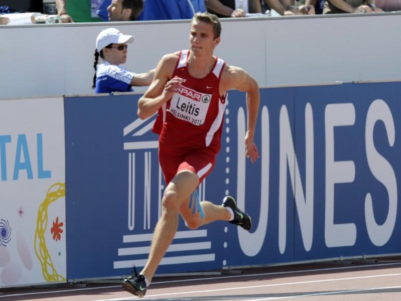 Leitis atkārto Latvijas rekordu 400 metros