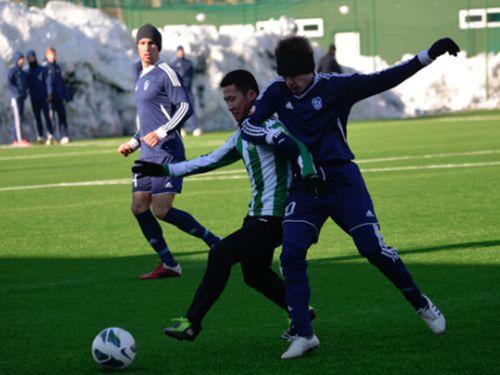 """Daugavpils uzvar Lietuvas čempionus, Rīgas """"Daugava"""" zaudē ar 0:3"""