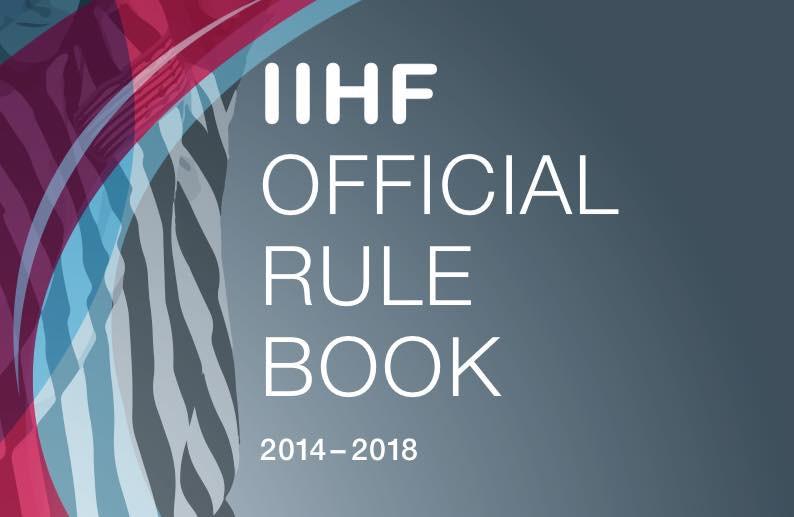 IIHF oficiālie hokeja noteikumi 2014-2018 (angļu val.)