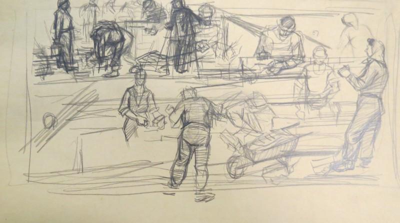 Skatāmi Matīsa Zavicka zīmējumi no Liepājas muzeja kolekcijas