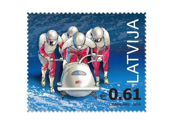 Latvijas Pasts velta pastmarku bobslejam