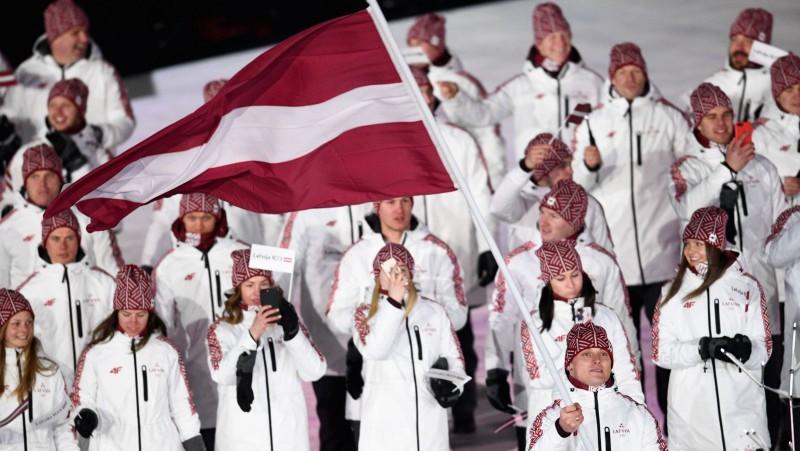 Phjončhanā atklātas olimpiskās spēles, uguni iededz daiļslidotāja