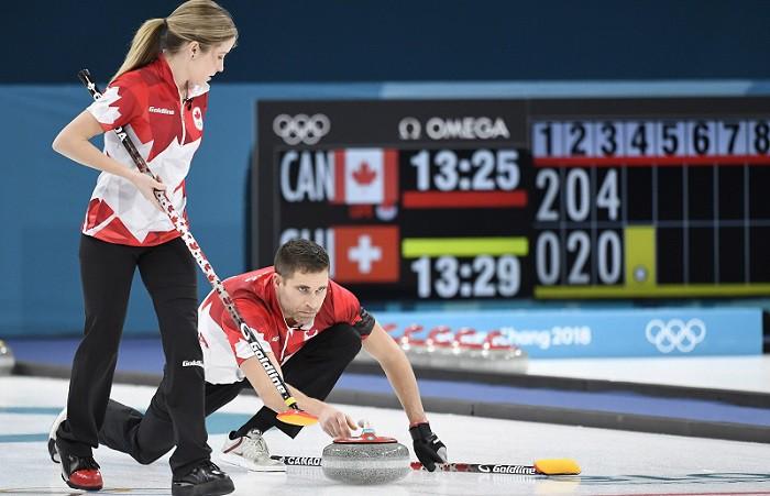 Kanādas kērlingisti triumfē pirmajās jaukto pāru sacensībās
