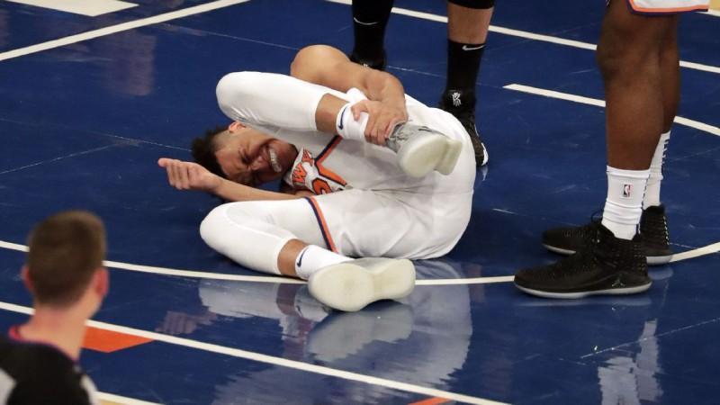"""""""Knicks"""" cerība Nokss potītes savainojuma dēļ izlaidīs līdz pat mēnesim"""